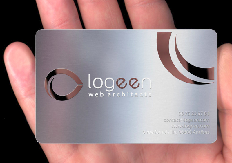 Super Creation carte de visite metal | Blog d'un webdesigner freelance  OE14