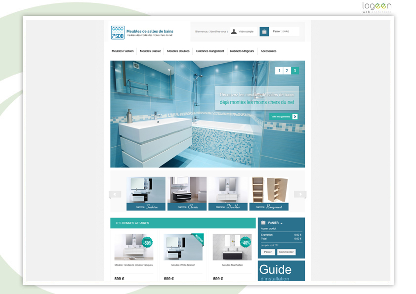 Creation de salle de bain en 3d gratuit unique artisan for Logiciel conception salle de bain